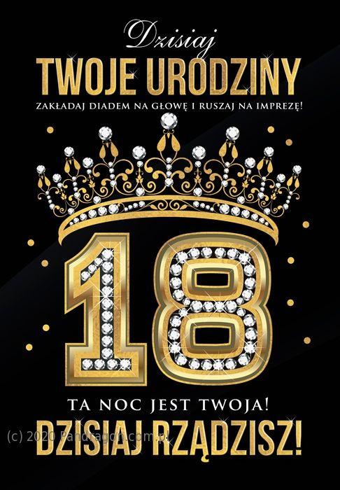 duża kartka na 18 urodziny dla kobiety