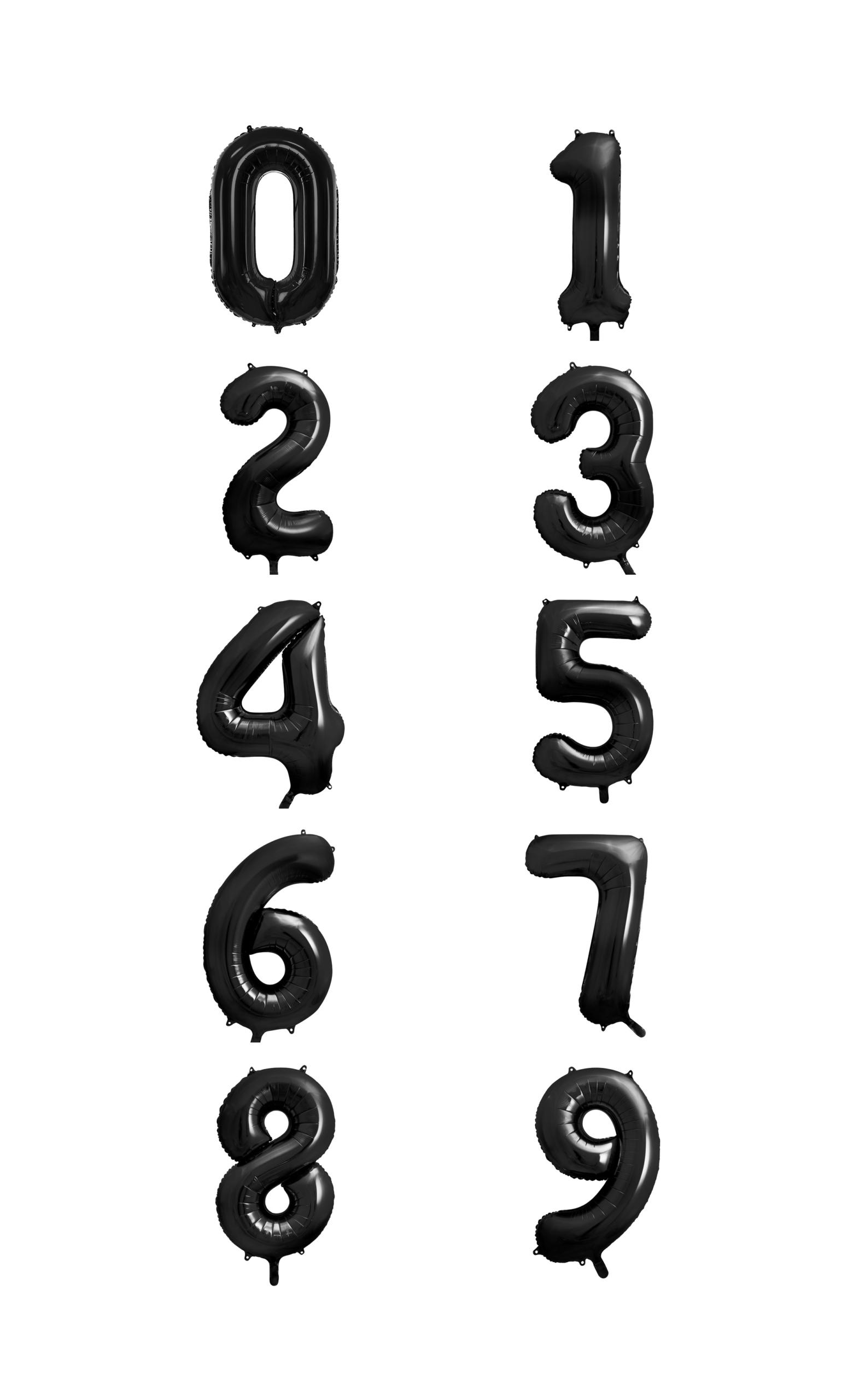 cyfry czarne z helem