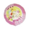 Okrągły różowy foliowy balon z napisem It's a girl