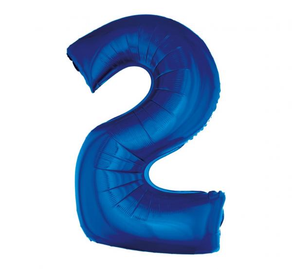 cyfra 2 niebieska