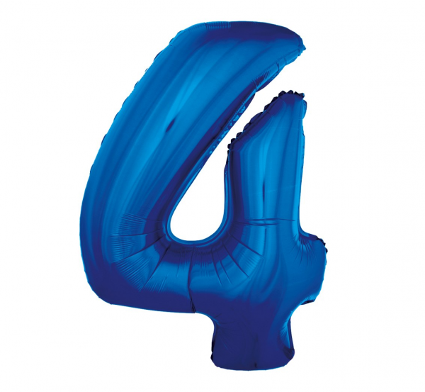 cyfra 4 niebieska