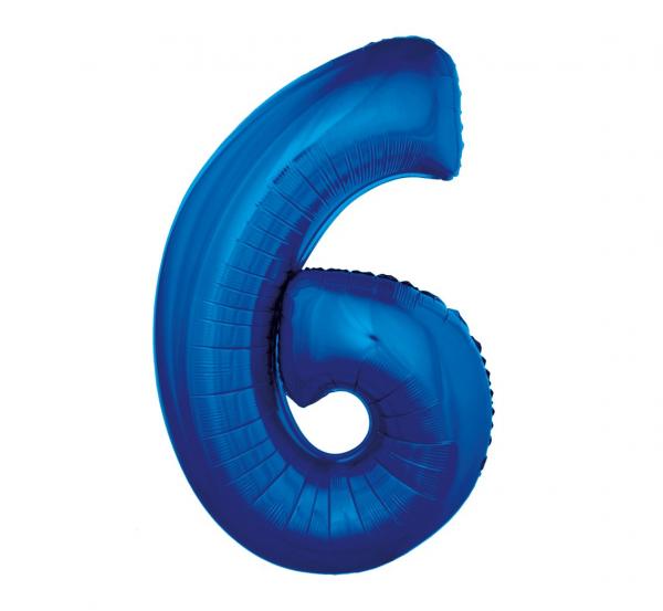 cyfra 6 niebieska