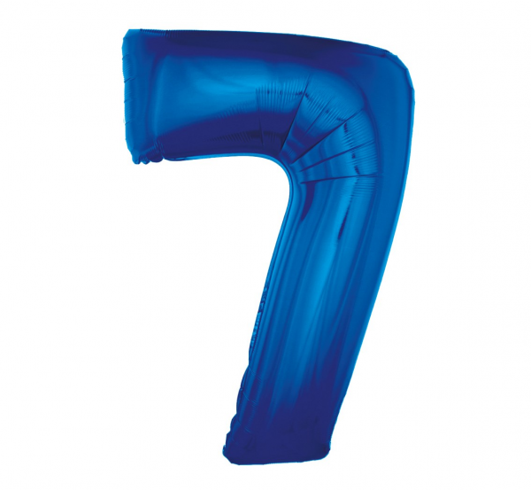 cyfra 8 niebieska