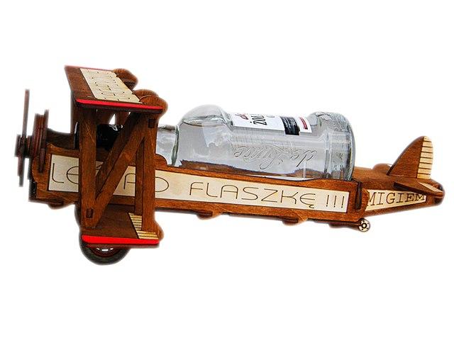 samolot na butelkę prezent