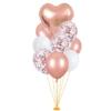 zestaw balonów różowe złoto