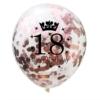 Balon przezroczysty z konfetti Rose Gold