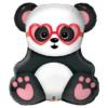Panda w okularach serce