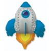 Balon foliowy rakieta niebieska