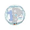 Balon foliowy roczek Teddy niebieski