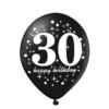 Balon czarny 30-ste urodziny