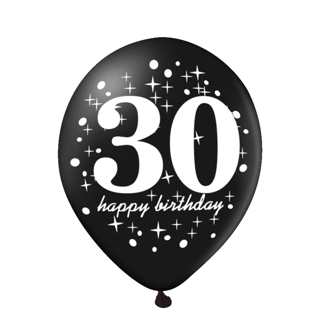 Balon-na-30-urodziny-czarny