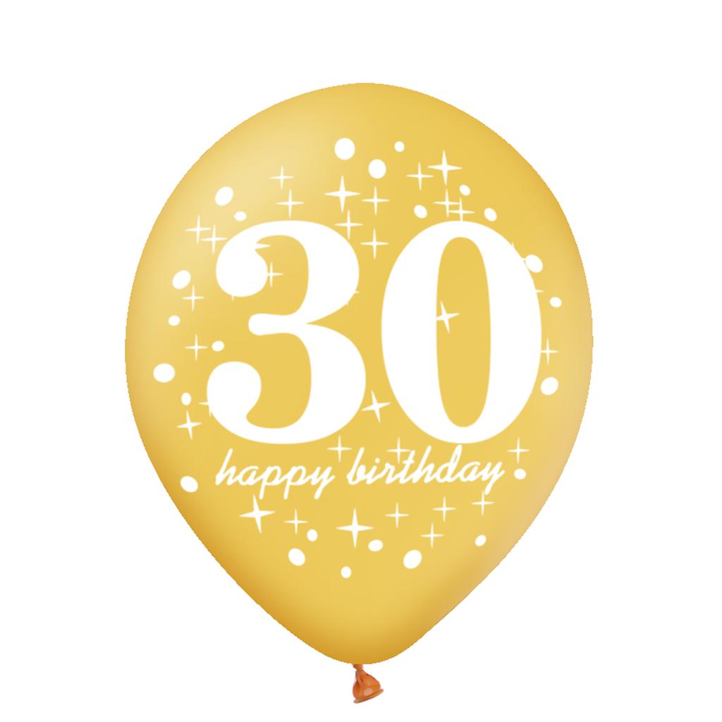 Balon-na-30-urodziny-zloty