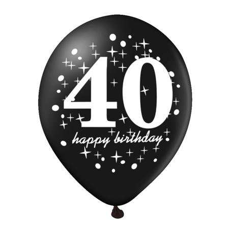 Balon-na-40-urodziny-czarny-30cm