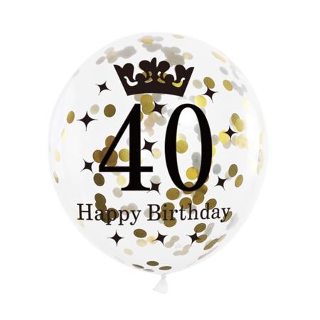 Balon-na-40-urodziny-konfetti-30cm