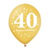 Balon na 40 urodziny złoty