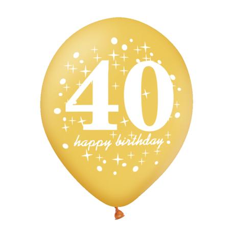 Balon-na-40-urodziny-zloty