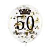 Balon na 50 urodziny konfetti złote