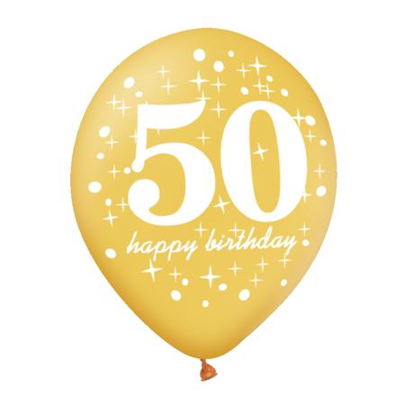 Balon-na-50-urodziny-zloty-30cm