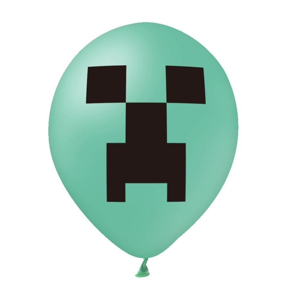 Balon-zielony-z-nadrukiem-Minecraft-1