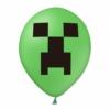 Balon zielony z nadrukiem Minecraft