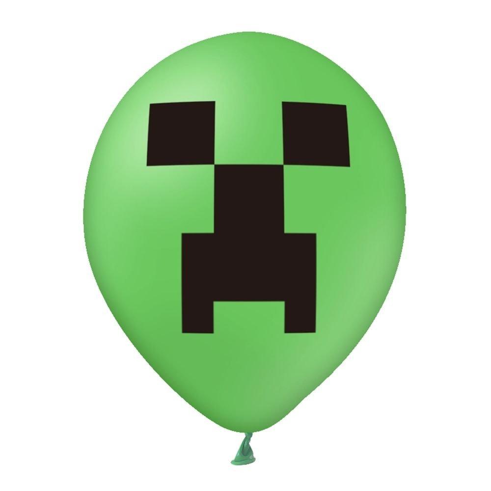 Balon-zielony-z-nadrukiem-Minecraft-2