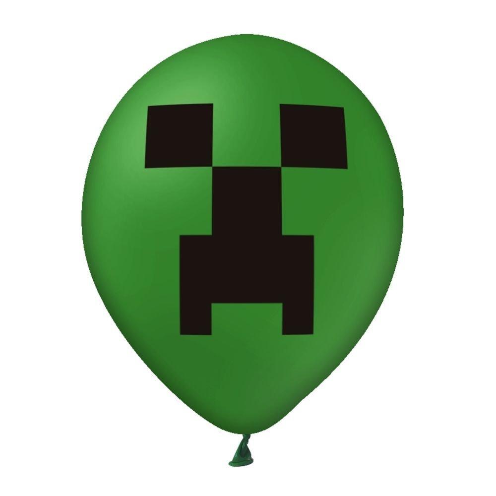 Balon-zielony-z-nadrukiem-Minecraft-3