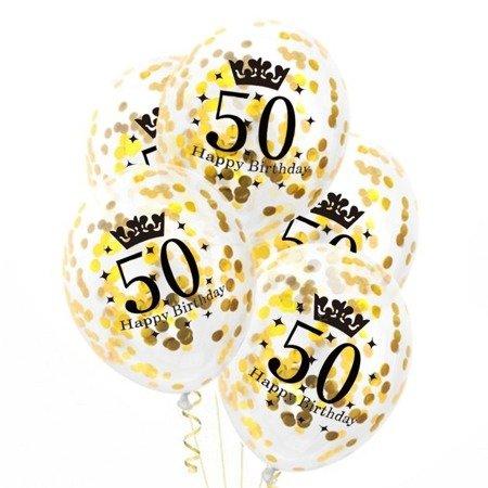 Balony-z-konfetti-zlotym-50-urodziny-30cm