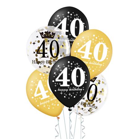 Zestaw-balonow-na-40-urodziny-czarno-zloty-30cm-6-szt
