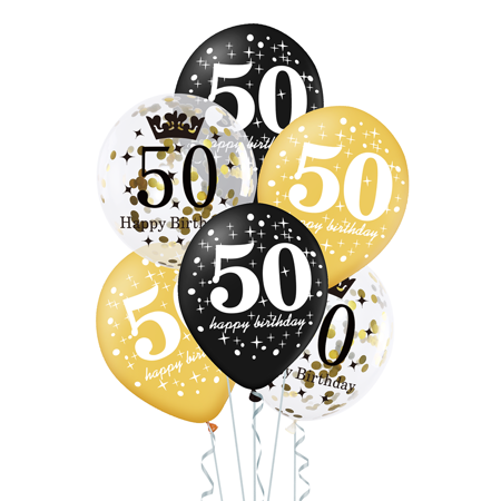 Zestaw-balonow-na-50-urodziny-czarno-zloty-30cm-6-szt