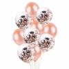 Zestaw balonów 18-ste urodziny różowe złoto, konfetti