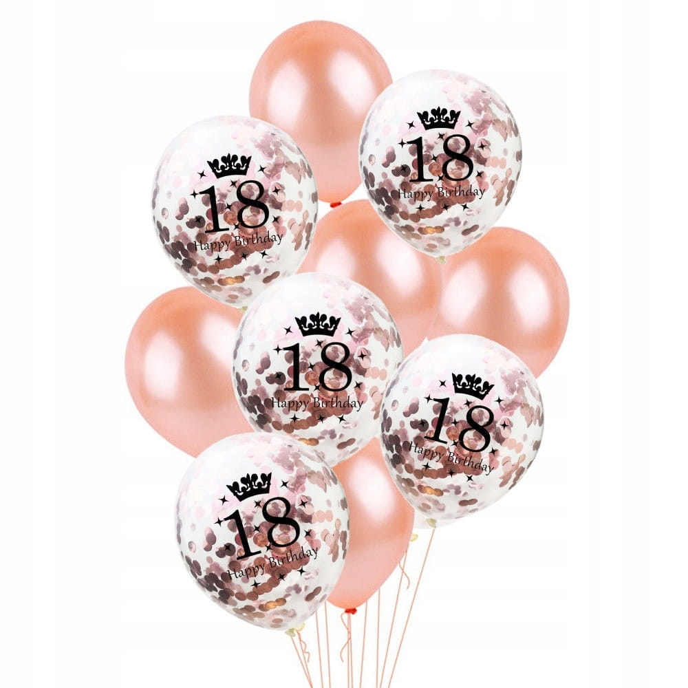 Zestaw-balony-18-urodziny-osiemnastka-Rose-Gold-konfetti