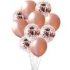 Zestwa balonów na 30-ste urodziny różowe złoto, konfetti