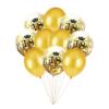 Zestaw na 18-ste urodziny Bukiet balonów z konfetti złote 10 szt.
