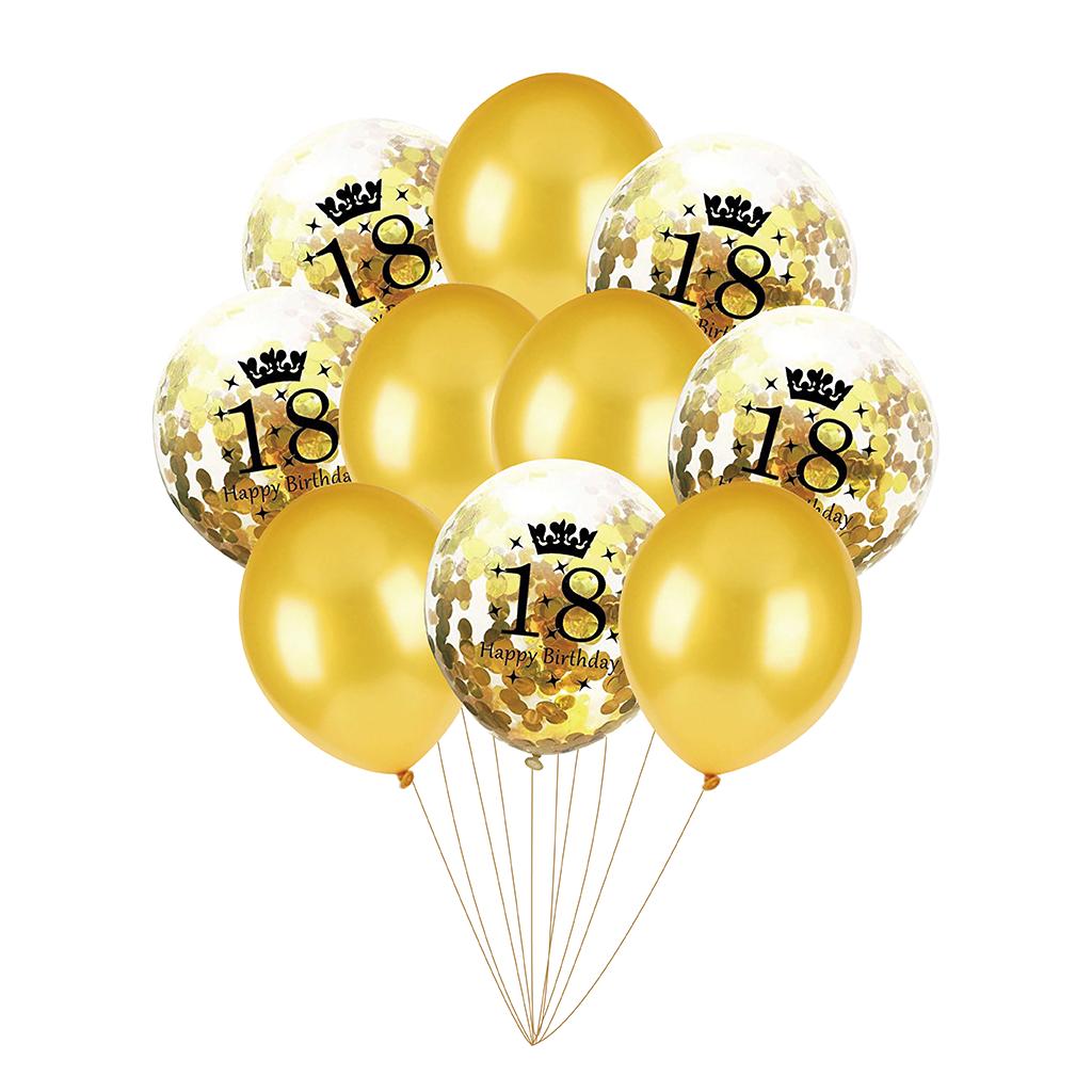 Zestaw-na-18-urodziny-Bukiet-balonow-z-Konfetti-Zlote-10-szt