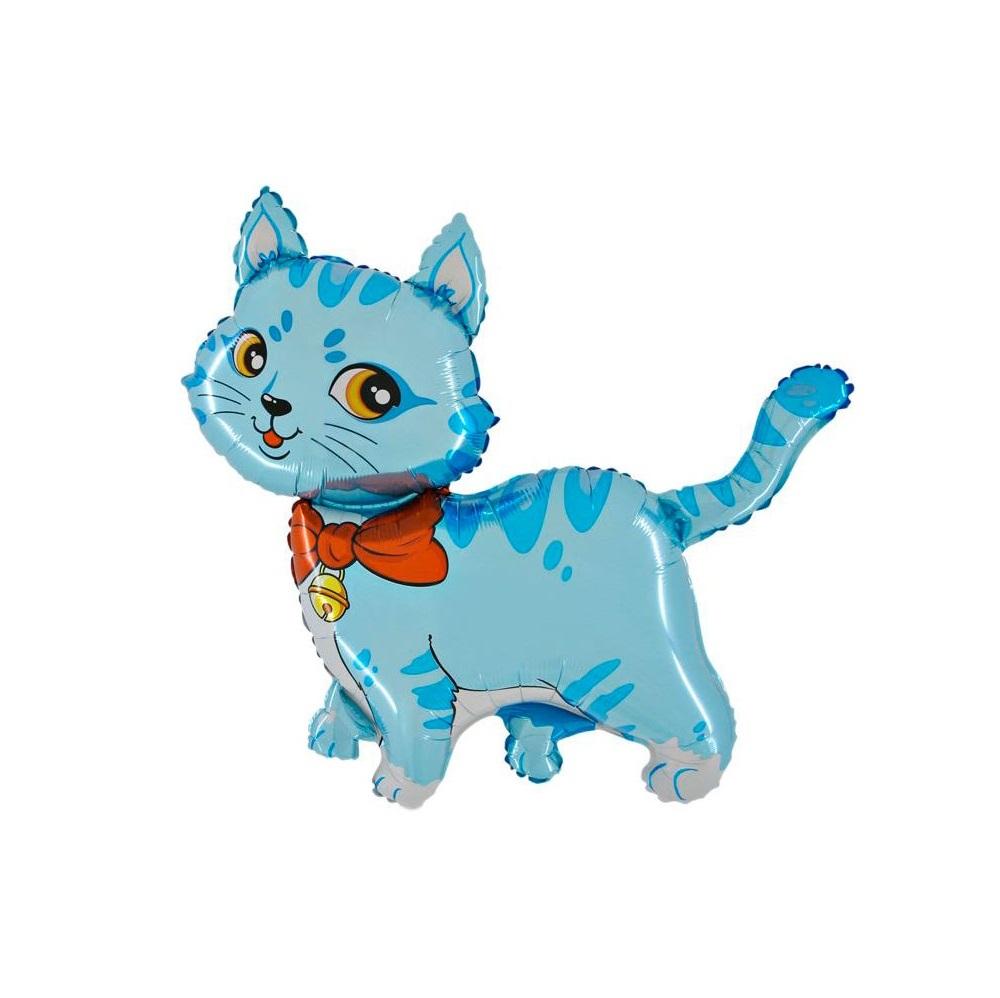 balon-kot-niebieski