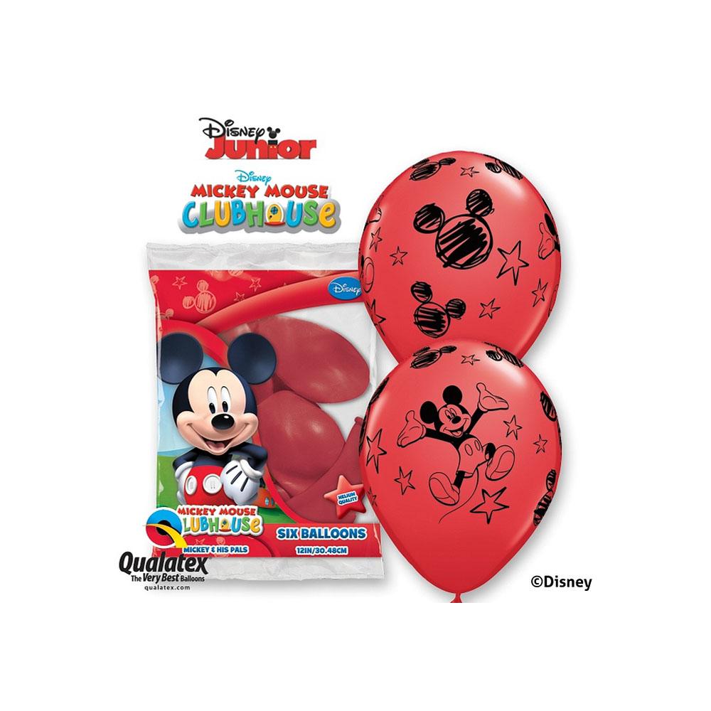 balon-z-nadrukiem-disney-mickey-czerwone