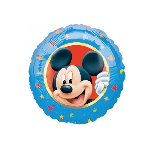 Balon okrągły Myszka Miki niebieskiy