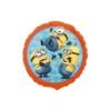 Balon foliowy Minionki okrągły pomarańczowy