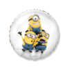 Balon foliowy Minionki okrągły