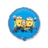 Balon foliowy Minionki okrągły niebieski