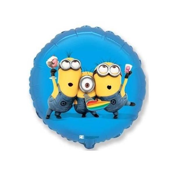 Balon-minions-niebieski