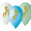 Balon ze złotym jednorożcem