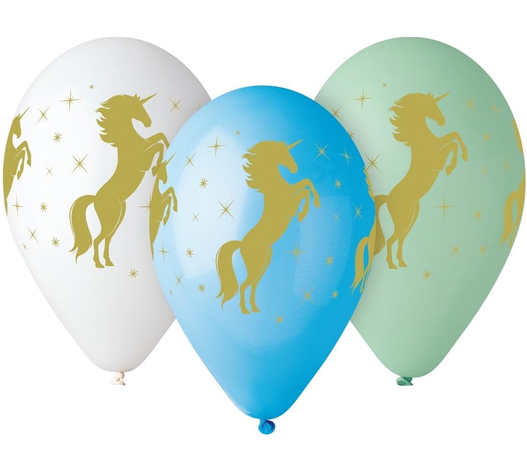 balony-zloty-jednorozec